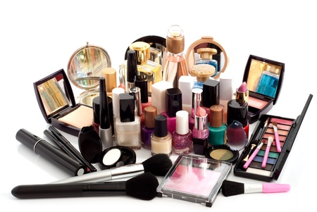 big cosmetic collection of lot of objects photo