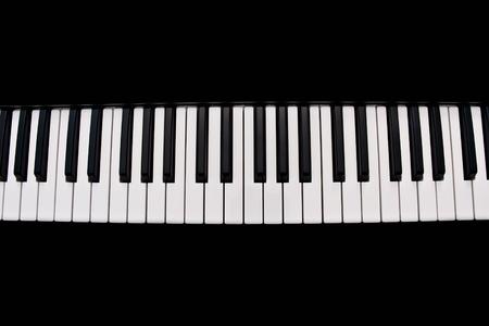 piano keyboard isolated on black background Stock Photo - 8736796