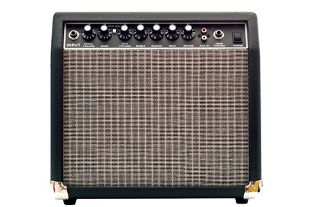 reverb: guitar amplifier isolated on white background
