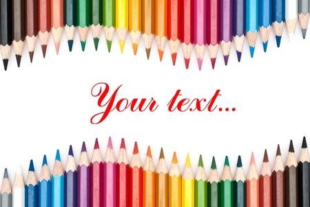 lapices: l�pices de colores aislados sobre fondo blanco