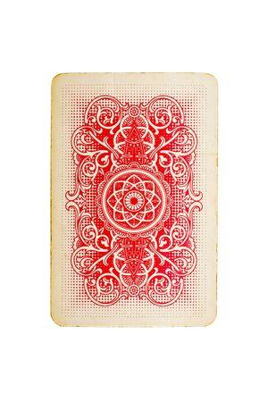 jeu de cartes: carte � jouer isol� sur fond blanc