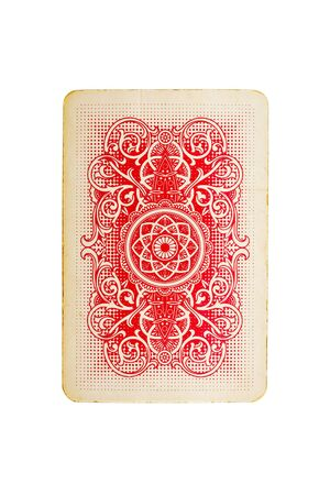 poker cards: playing card isolated on white background Stock Photo