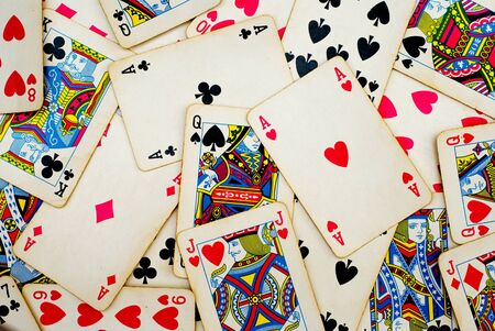 background made of playing cards