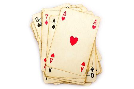 jeu de cartes: jeu de cartes isol� sur fond blanc