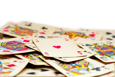 background made of playing cards Stock Photo - 8858682