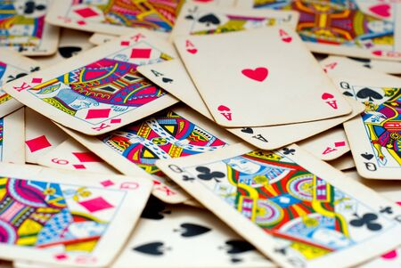 background made of playing cards Stock Photo - 8858688