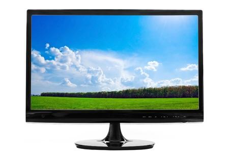 computerscherm op wit wordt ge