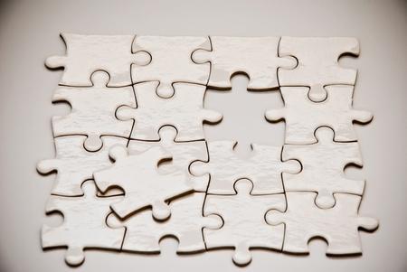 puzzle de piezas con la falta de paz Foto de archivo - 9087206