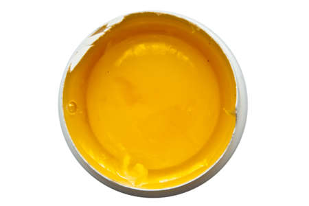 raw yolk isolated on a white background