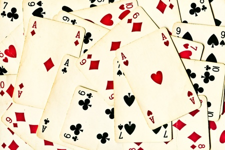 achtergrond gemaakt van speelkaarten