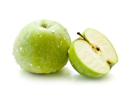 green apple isolated on a white background photo