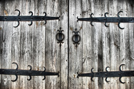 old wooden gates as a background photo