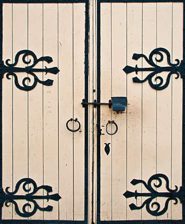 old wooden gates as a background Stock Photo - 11065104