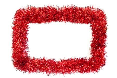 Kerst tinsel frame met ruimte voor tekst
