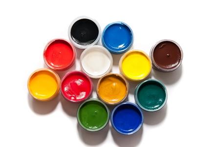 red tube: pinturas aislado en un fondo blanco