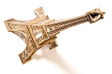 souvenir eiffel tower isolated on a white background photo