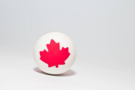 toy ball with canadian maple leaf photo