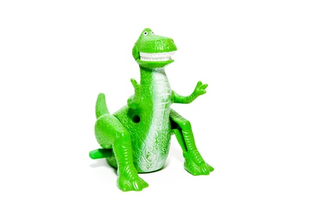 toy dinosaur isolated on a white background