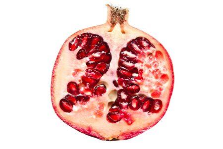 pomegranate isolated on a white background Stock Photo - 12126213