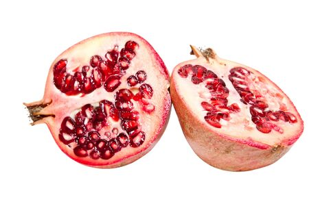 pomegranate isolated on a white background Stock Photo - 12126209