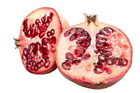 pomegranate isolated on a white background photo