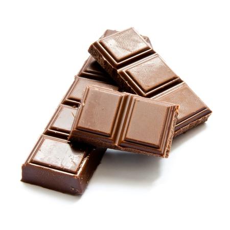 candy bar: chocolate aisladas sobre un fondo blanco