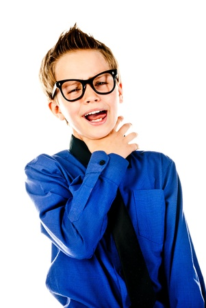fashion little boy with glasses photo