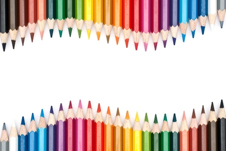 pencils isolated on white background