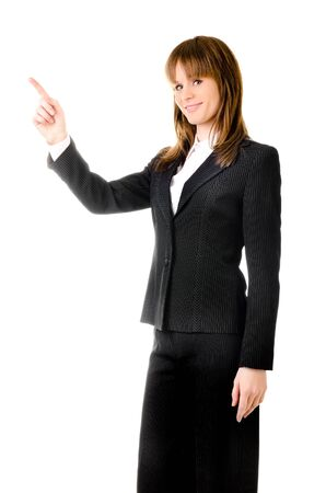 business woman isolated on a white background photo