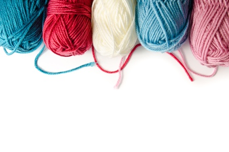 yarn isolated on a white background