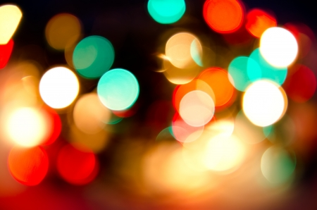 abstract background of blurred lights
