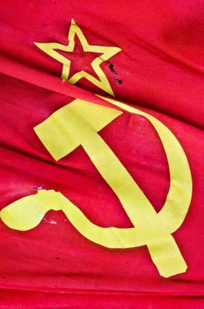 soviet flag as a background