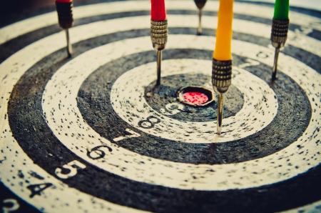 creative target: dart closeup as a background Stock Photo