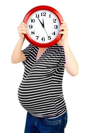 births: pregnant woman waiting for births concept