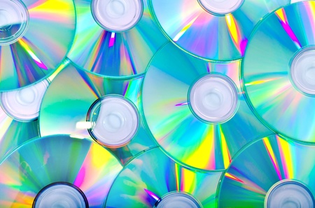 a lot of compact disks as a background Stock Photo - 21334710