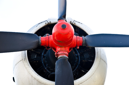 plane propeller isolated on a white background photo