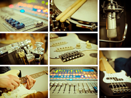background music: music concept of different images Stock Photo