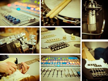 Musik-Konzept von verschiedenen Bildern Standard-Bild - 32137472