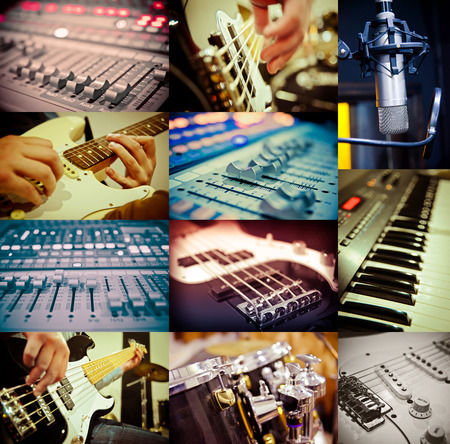 music concept of different images Stock Photo