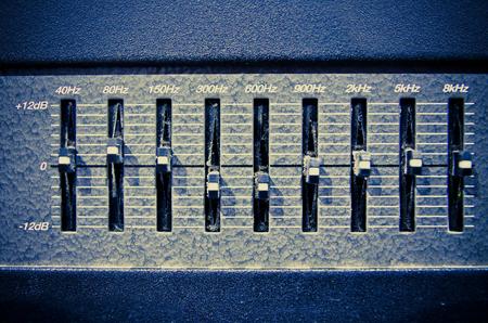 sliders: studio amplifier equipment with sliders