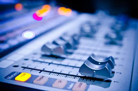 panel de control del mezclador de sonido de la música