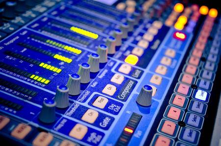 control panel lights: sound music mixer control panel