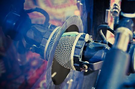 condenser: condenser microphone in a studio Stock Photo
