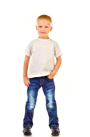 handsome boys: little boy isolated on a white background