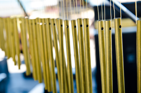 chimes: a professional bar chimes on the stage
