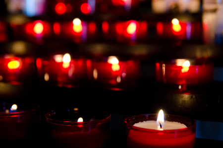 christmas memories: a lot of candles in church