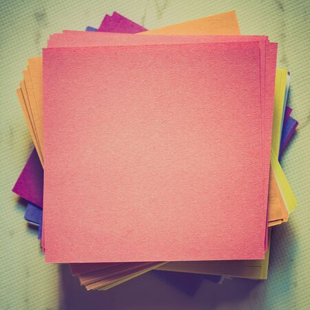 stack of empty notes paper Stock Photo