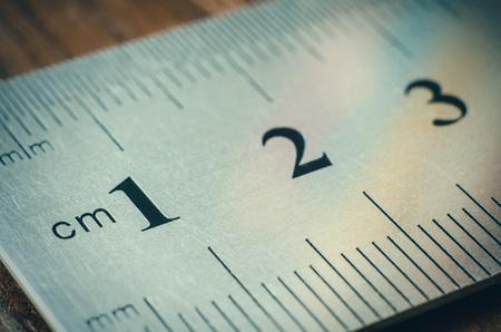calibrate: a part of ruler macro Stock Photo