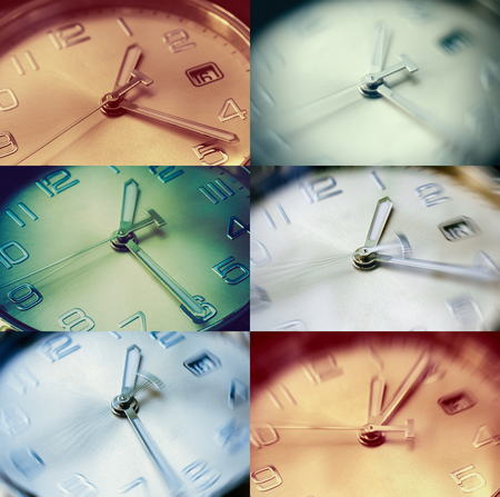 hands  hour: set of clock with moving hour hands