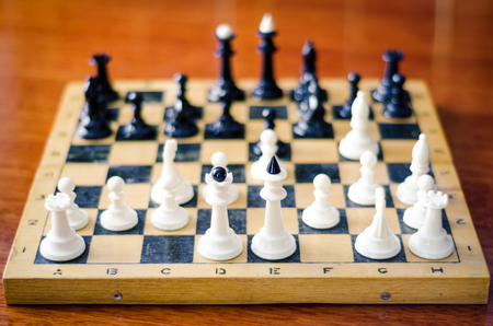pawns: chess figures on a board